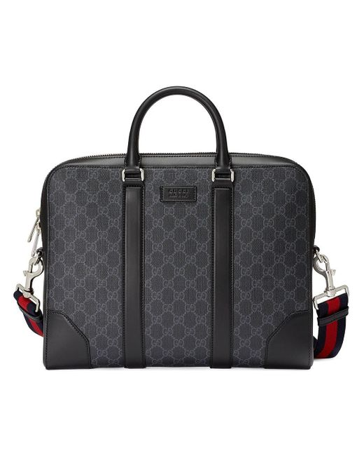 258bc09df Gucci GG Supreme Briefcase in Black for Men - Save 14% - Lyst