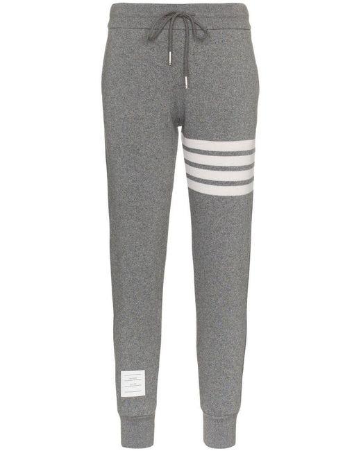 Thom Browne - Gray Striped Track Pants - Lyst