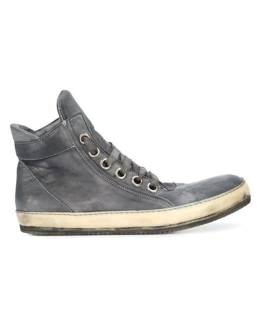 A Diciannoveventitre - Gray Casual Hi-top Sneakers for Men - Lyst