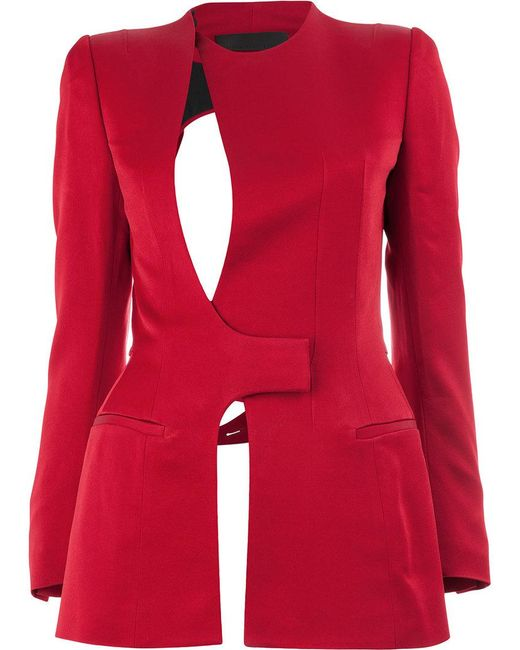 Haider Ackermann - Red Cut-out Jacket - Lyst
