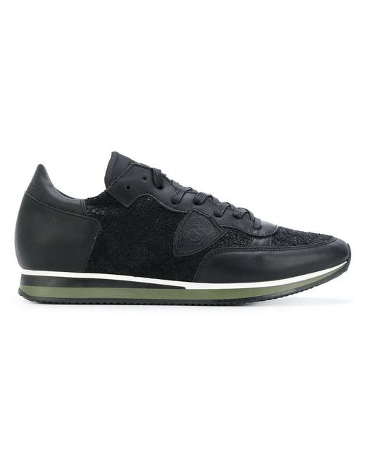 Philippe Model | Black Lateral Patch Sneakers for Men | Lyst