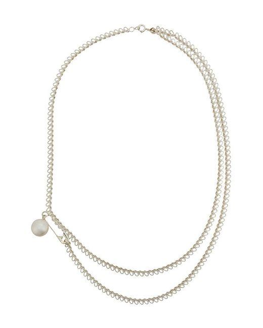 Wouters & Hendrix - Metallic Safety Pin Necklace - Lyst