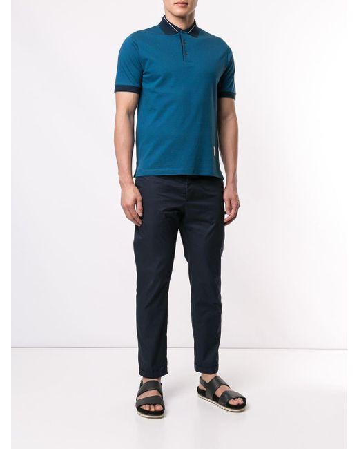 3c359485 ... Cerruti 1881 - Blue Basic Polo Shirt for Men - Lyst ...