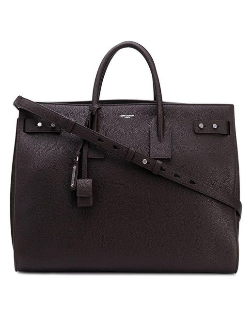 132aa95dfbb Saint Laurent - Brown Large Sac Du Jour for Men - Lyst ...