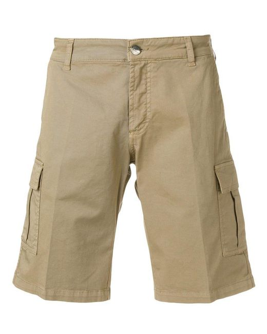 Entre Amis - Natural Cargo Shorts for Men - Lyst