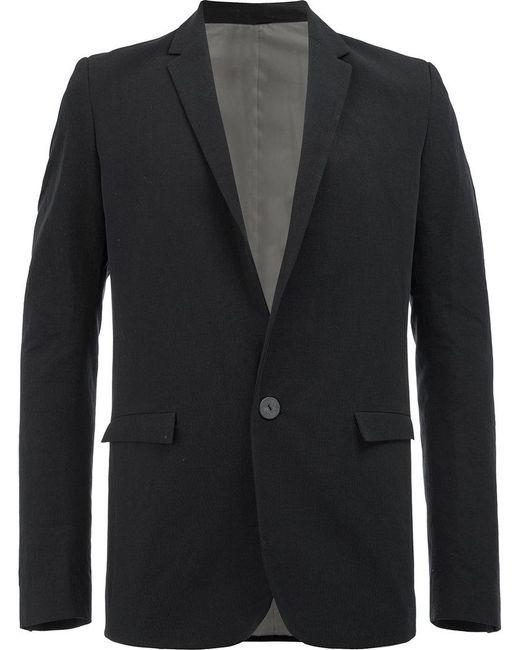 Label Under Construction - Black Flap Pockets Blazer for Men - Lyst