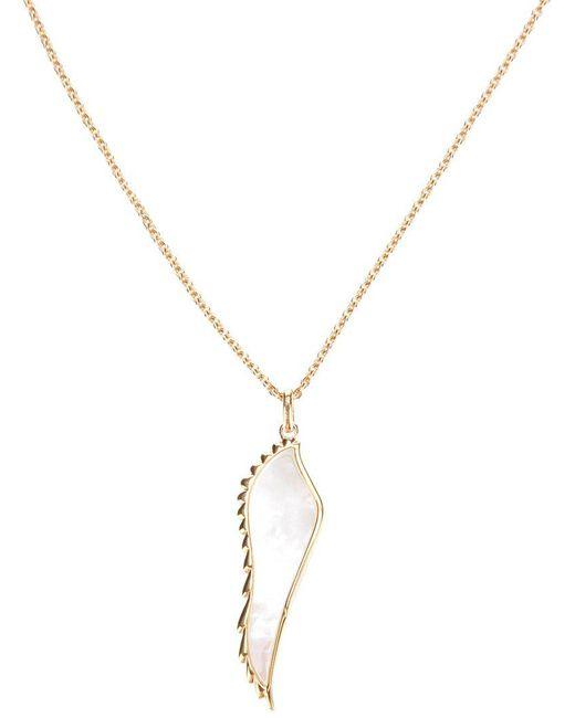 Garrard - Metallic Yellow Gold Wing Pendant Necklace - Lyst