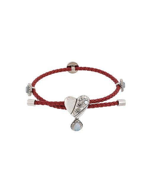 Alexander McQueen - Metallic Heart Pendant Bracelet - Lyst