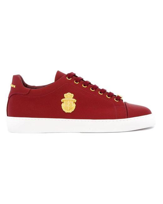 Billionaire | Red Logo Plaque Sneakers | Lyst