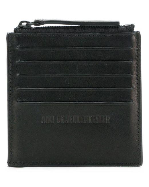 Ann Demeulemeester Blanche - Black Zipped Card Holder for Men - Lyst