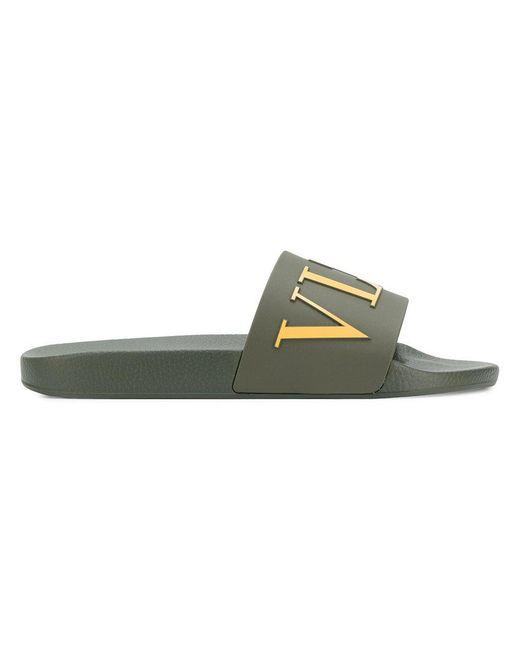 Valentino - Green Garavani Vltn Slides for Men - Lyst