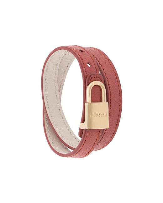 Buscemi - Green Wrap Around Lock Bracelet - Lyst