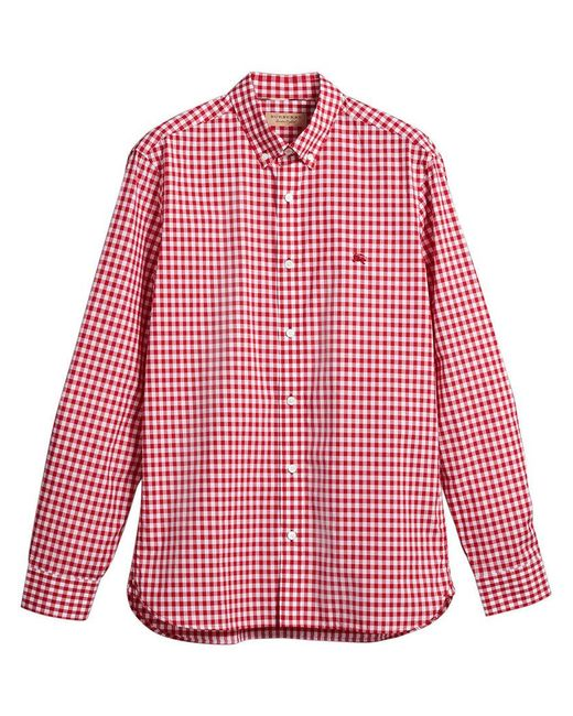 Burberry - Red Gingham Shirt for Men - Lyst