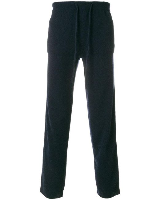 Laneus - Blue Embroidered Stripe Panel Track Pants for Men - Lyst