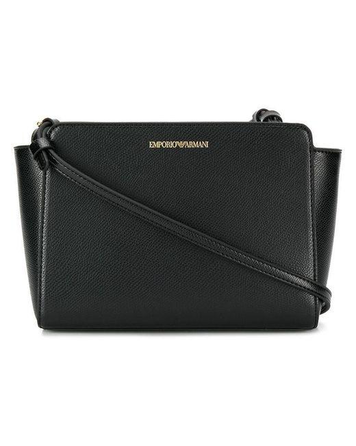 Emporio Armani - Black Logo Crossbody Bag - Lyst ... 4b45d1a8a0