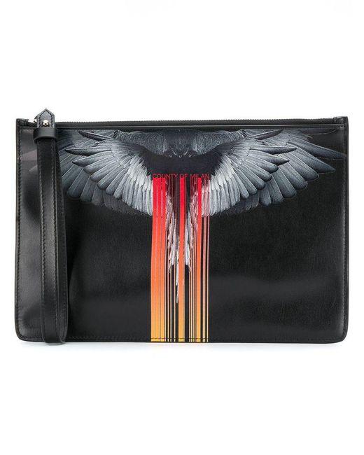 Marcelo Burlon - Black Graphic Clutch Bag for Men - Lyst