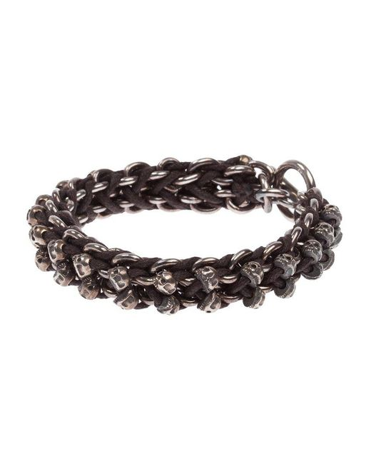 Tobias Wistisen - Metallic Skull Bar Bracelet for Men - Lyst