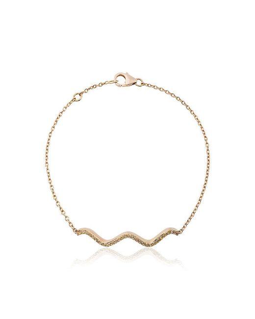Sabine Getty Chained Sapphire and Gold Wave Bracelet - Metallic 0UQ16XLMuZ