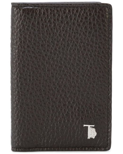 Tod's | Brown Grained Bifold Wallet for Men | Lyst