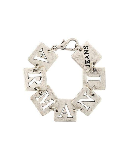 Armani Jeans | Metallic Cut Out Square Bracelet | Lyst