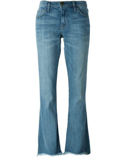 Current/Elliott | Blue 'superloved' Bootcut Jeans | Lyst