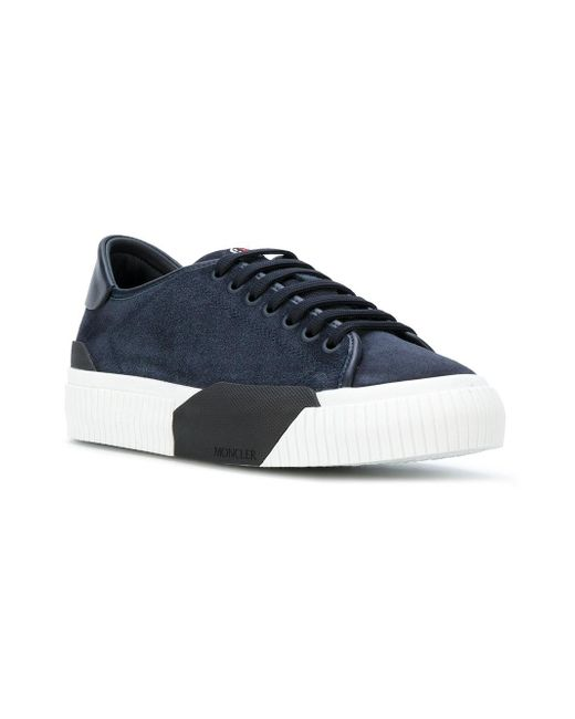 e2dc3ae0660f3 ... Moncler - Blue Lace-up Platform Sneakers for Men - Lyst ...