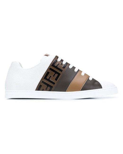 Fendi - White Ff Motif Sneakers for Men - Lyst