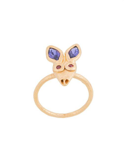 Oraïk - Metallic Little Rabbit Ring - Lyst