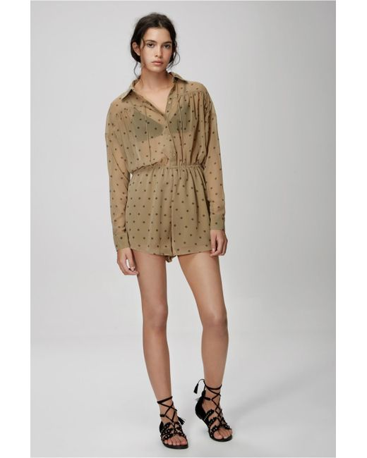 cb1e6b58dba ... The Fifth Label - Natural Midnight Memories Playsuit - Lyst ...