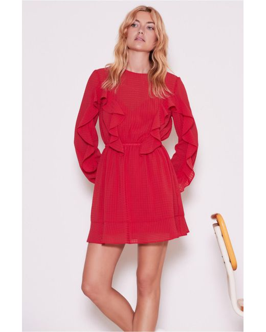 The Fifth Label - Red Window Long Sleeve Dress - Lyst