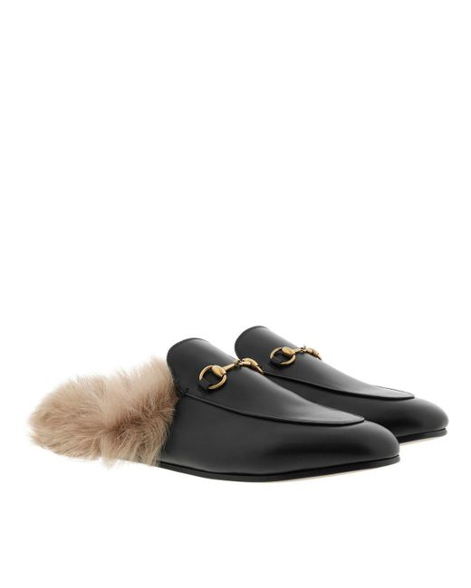 614b01a5020 Gucci Princetown Slipper Horsebit Detail Leather Black in Black - Lyst