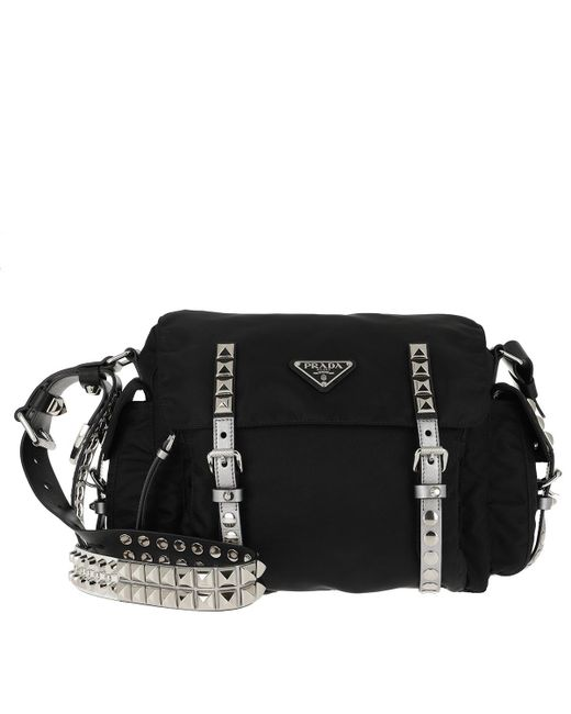 994fabb5a769 Prada - Black Shoulder Bag Nylon leather Nero cromo - Lyst ...
