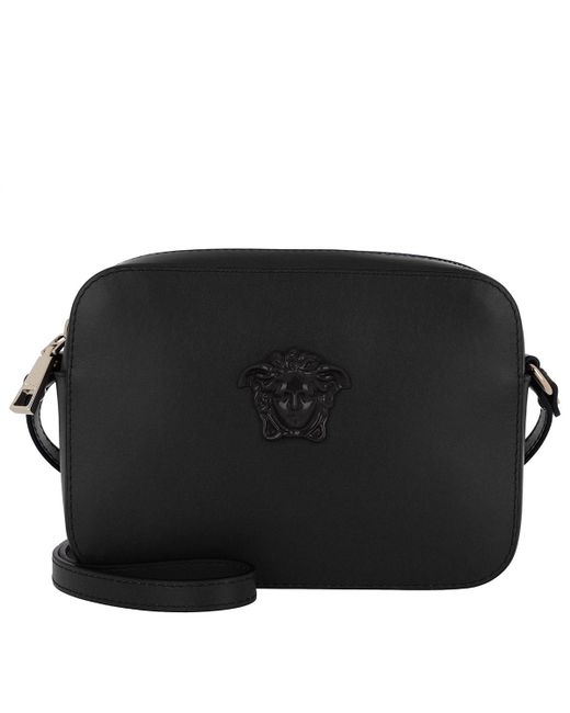 Versace - Celeste Crossbody Bag Small Black/light Gold - Lyst