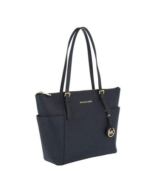 a5785ff3de3e Michael Kors Jet Set Item Ew Tz Tote Admiral in Blue - Save 31% - Lyst