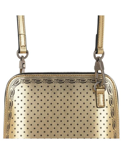 6e58848058f39d ... Gucci - Metallic Gold-tone Guccy Mini Leather Shoulder Bag - Lyst ...