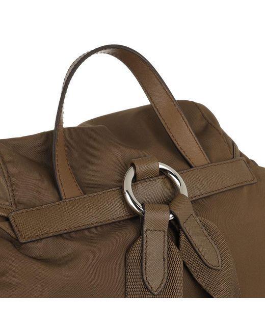 640dfe867668 ... Prada - Logo Backpack Brown - Lyst ...