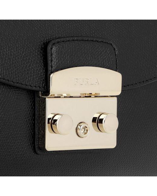 Furla Metropolis S Pochette W chain Onyx in Black - Save 13% - Lyst 8dfdf1bdd1