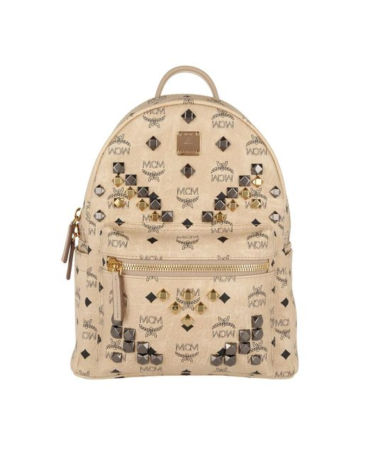 MCM | Natural Stark Small Backpack | Lyst
