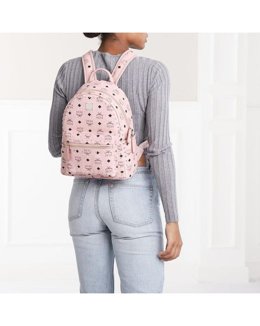 2ff78c6b9 MCM Stark Outline Studs Backpack Small Soft Pink in Pink - Save 10 ...