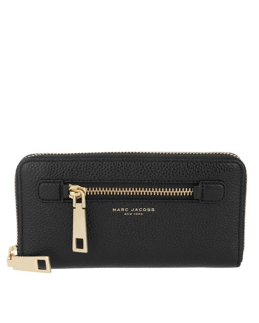 Marc Jacobs - Gotham Standard Continental Wallet Black/gold - Lyst