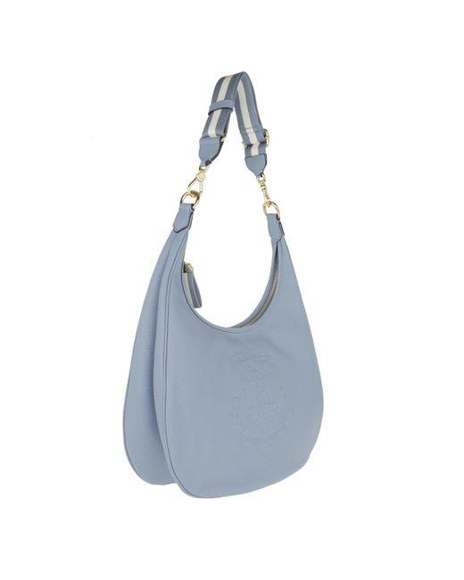 bdb2837359fa ... Lauren by Ralph Lauren - Huntley Hobo Medium Blue Mist - Lyst ...