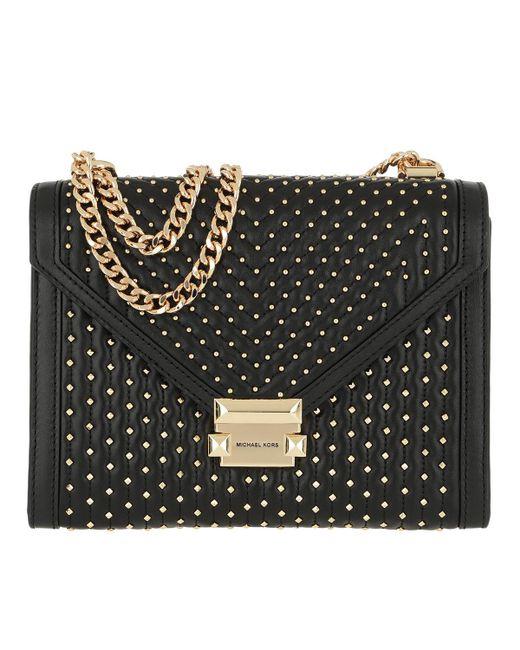 90bd2a14b725 Michael Kors Whitney Large Shoulder Bag Black in Black - Lyst
