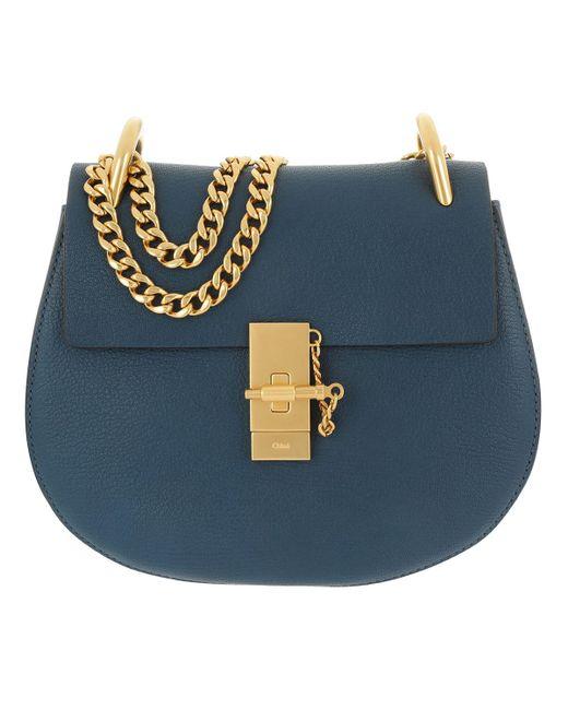 Chloé - Drew Crossbody Bag Goatskin Denim Blue - Lyst
