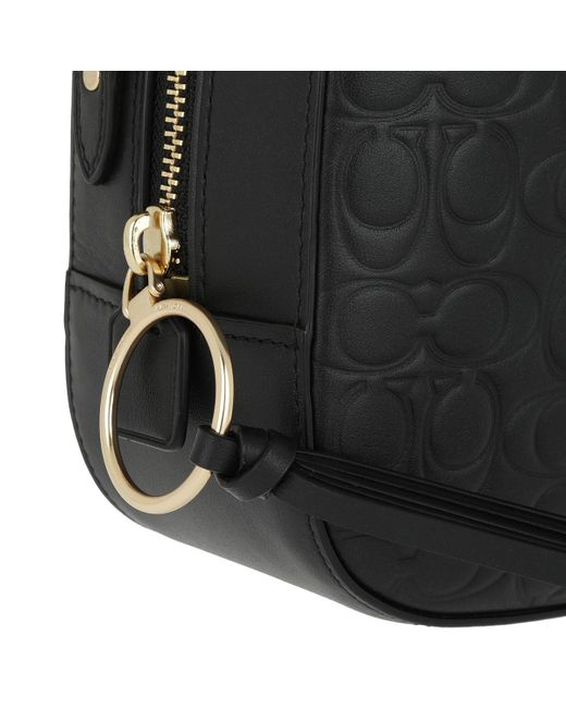 ... COACH - Signature Leather Camera Bag Black - Lyst ... 767fcbc5402ad