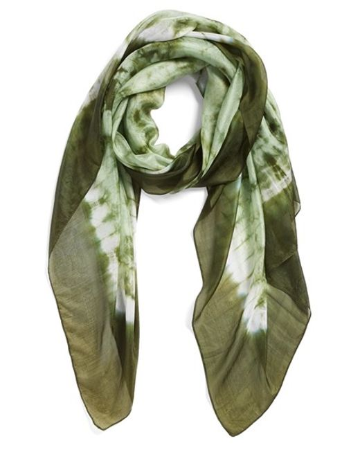 La Fiorentina | Green Tie Dye Silk Scarf | Lyst