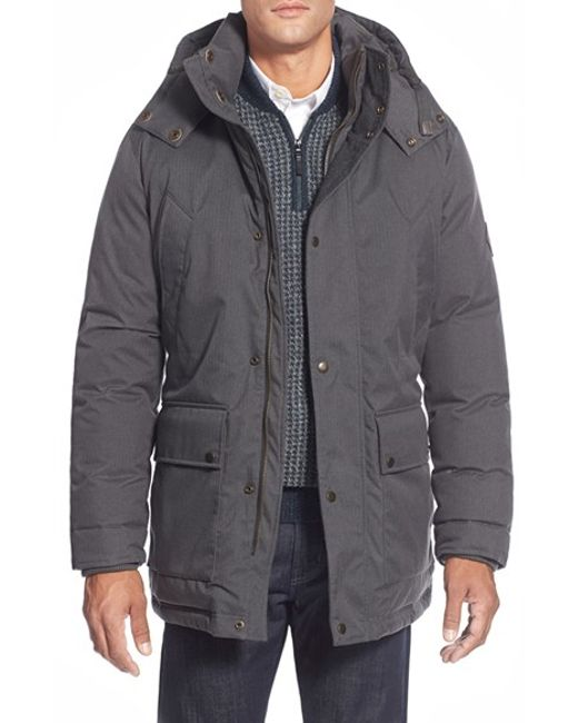 Cole Haan | Gray Hooded Parka for Men | Lyst