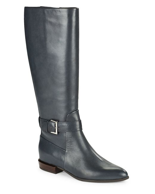 Nine West | Blue Diablo Leather Knee-high Boots | Lyst