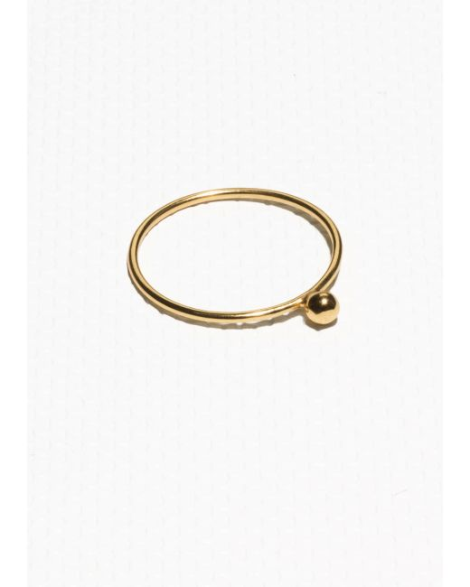 & Other Stories | Metallic Gold Plated Ring | Lyst