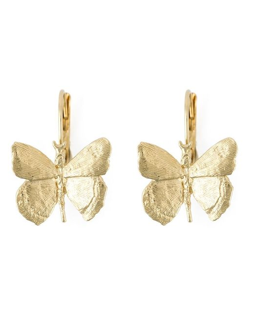 Wouters & Hendrix | Metallic Butterfly Drop Earrings | Lyst