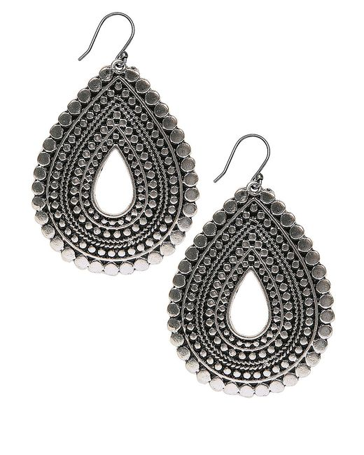 Lucky Brand | Metallic Silver-tone Teardrop Earrings | Lyst
